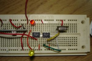 Garage Door Sensor breadboard
