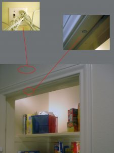 Pantry Light showing component locations
