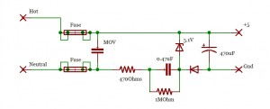 Basic capacitive transformerless power-supply