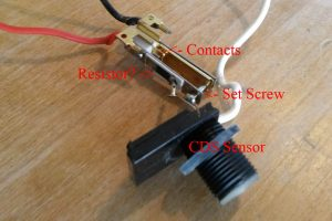 CDS Light sensor made from temperature switch