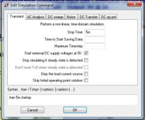 Here you can edit the type of simulation you want to run and the parameters for that simulation.