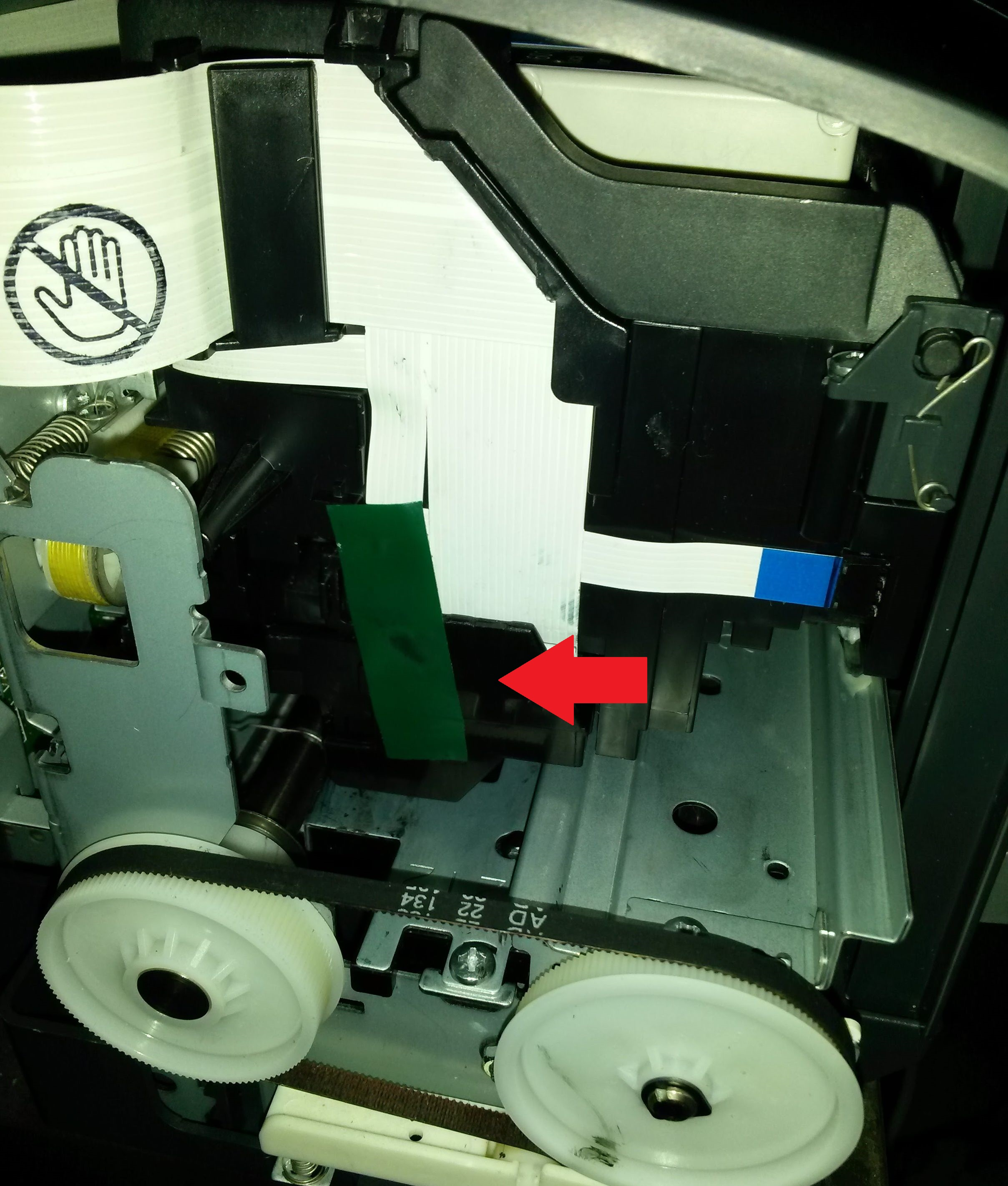 Disassembly (partial) and clean Epson C88+ Printer