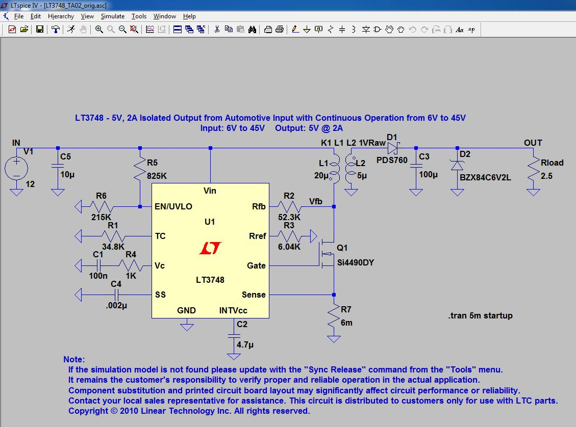 Ltspice Tutorial Running A Model And Viewing Output Sixerdoodle Electronic Circuit Design Program Free Loading An For The First Time Pulls Up Graphical View Of